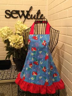 Girls little mermaid apron by Sewcutesewing1 on Etsy