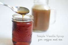 Simple Vanilla Syrup (recipe, for coffee and tea) by Like Purls Off a String