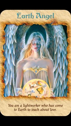 Today's Angel Card comes from Angel Therapy Cards Doreen Virtue. Today's card :Earth Angel You are a light worker who has come to Earth . Doreen Virtue, Angels Touch, I Believe In Angels, Angel Prayers, Angel Guidance, Angels Among Us, Angel Cards, Mystique, Guardian Angels