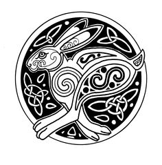 Celtic Patterns, Celtic Designs, Doodles Zentangles, Hare Illustration, Rabbit Tattoos, Tattoo Project, Rabbit Art, Bunny Art, Celtic Tattoos