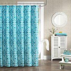 Mi Zone Melanie Microfiber Fabric Shower Curtain