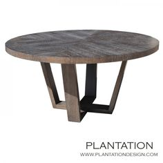 Love this table! Hathaway Dining Table in Rift Oak with charcoal ceruse satin finish from Plantation Design
