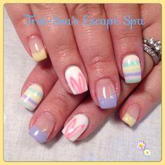 Easter Nails by Trai-Sea's Escape Spa www.traiseasescapespa.com