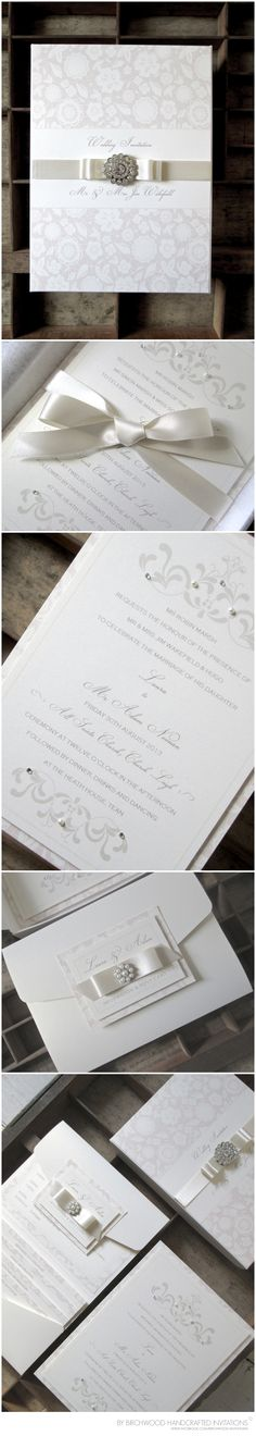 Luxe wedding invitation by Birchwood Handcrafted Invitations ©