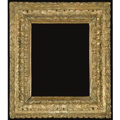 An Italian giltwood frame, late 17th century, acanthus carved and with husk carved borders, 15½in by 13½in