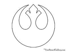 free star wars patterns | Star Wars Rebel Alliance Stencil