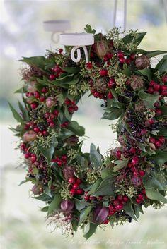 Herfst voorbeelden - www.artdelafleur7.nl Herfst krans wreath autumn fall berries Hedra Angelique Temmink Waalboer ' art de la fleur