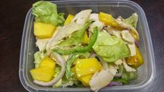 Chicken and mango salad is such a staple on the  Cohen Diet  but just because it is a no-brainer. Really how difficult is it to add lettuc...