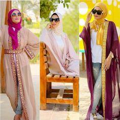 Chiffon summer abaya hijab-Flowy and cute hijab outfits – Just Trendy Girls