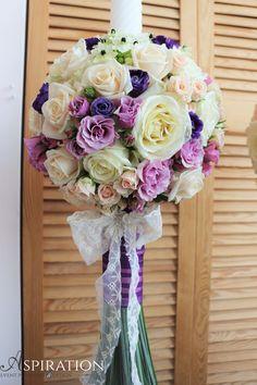 lumanare cununie cu aranjament sferic Wedding Designs, Floral Wedding, Floral Arrangements, Cake, Flower Arrangement, Kuchen, Flower Arrangements, Torte, Cookies