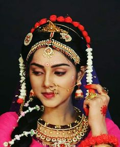 Mallika singh as Radharani Lord Krishna Images, Radha Krishna Pictures, Radha Krishna Photo, Krishna Photos, Radhe Krishna, Beautiful Girl Indian, Beautiful Girl Image, Baby Krishna, Indian Wedding Photos