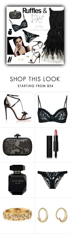 """Ruffles & Lace"" by butterflykate88 ❤ liked on Polyvore featuring Oscar de la Renta, Christian Louboutin, La Perla, Bottega Veneta, Givenchy, Elie Saab, Armenta and Tom Wood"
