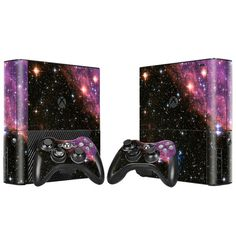 Xbox 360 E Console Skin Decal Sticker Galactic + 2 Controller Custom Design Set #ZoomHit