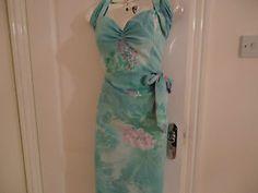 1940s 1950s hawaiian vintage style wiggle dress, size 10 | eBay