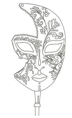 """iColor """"I Love Coloring II A&E"""" ~ masque de Venise Make your world more colorful with free printable coloring pages from italks. Our free coloring pages for adults and kids. Coloring Book Pages, Printable Coloring Pages, Coloring Sheets, Hippie Kunst, Mask Template, Venetian Masks, Quilling Patterns, Digi Stamps, Colorful Pictures"""