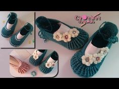 c583164aa كروشيه حذاء سليبر بأى مقاس // Crochet Ballet Slippers Tutorial for any size