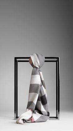 Check Silk Cashmere Scarf | Burberry