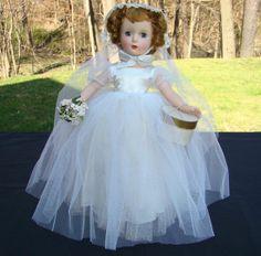 Stunning 1951-55 Madame Alexander Margaret Bride Doll 15 Inch HP Box from americanbeautydolls on Ruby Lane