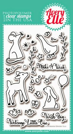Storybook clear stamp set by Avery Elle