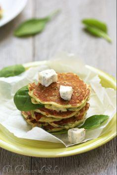 Pancakes (ou fritters) salés aux épinards et gorgonzola (pour 4 personnes)