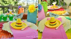 Cinco De Mayo party table place settings