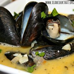 Mussels in White Wine Garlic Sauce Recipe | I Can Cook That