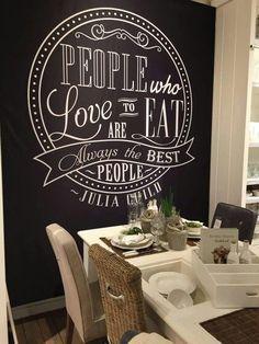 Maybe the new dining area ? - Probably new Flat Ideas - Chalkboard Art Quotes, Chalkboard Drawings, Chalkboard Lettering, Chalkboard Designs, Diy Interior, Cafe Interior, Interior Design Living Room, Blackboard Wall, Chalk Wall