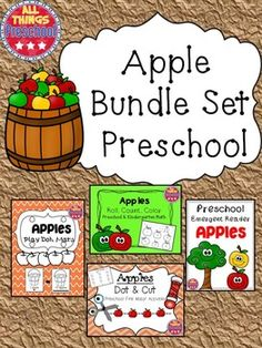 Now Available:  My 4 Top-Selling Apple Activities for your preschool or Kindergarten Classroom!  Save time and money!!!!Included in this packet:*Apples Emergent Reader*Apples Roll, Count, Color*Apples Dot & Cut*Apples Play Dough Mats**************************************************************************Don't forget to click on the green star at the top of the page to follow me for all my latest sales, updates, and newest products!