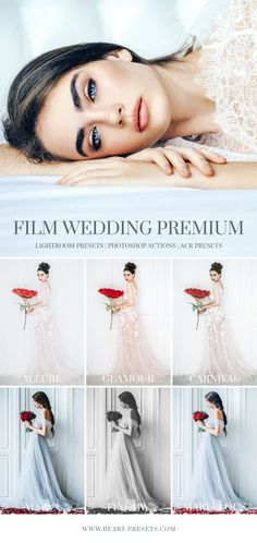 Film Lightroom presets for wedding photography. This professional film collection is good for black & white, portrait, fashion, wedding or landscape photography. There are endless style variations, making this the most valuable addition to your presets library. Create your photos in a unique and stylish way.