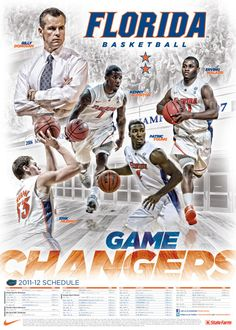 (Glad you liked our poster! Florida Gators Basketball, Basketball Teams, Schedule Cards, Win Or Lose, University Of Florida, Football, Baseball Cards, Sports, Poster