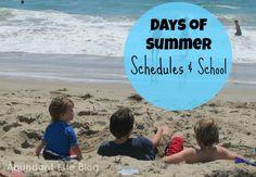 Days of Summer: Schedules and School Summer Ideas, Summer Fun, Summer Time, Adventure Kids, Summer Schedule, Rainy Day Activities, 2017 Summer, Family Life, Homeschooling
