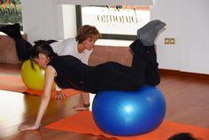 Pilates suelo-trabajo con balón grande