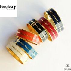 Idéal en toute occasion, le bracelet Bnagle up. Du rouge heureux, de la tangerine, du vert menthe, du blanc sable ou encore du marine orchid. On adore les bracelets BOLLYSTUD