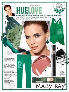 Striking jewel tones ruled the runways. Now, celeb stylist Lo VonRumpf shows you how to wear rich shades of jade.