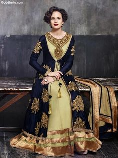 Colour combination,embroidery and fabric all gel really well to create this awsm piece....