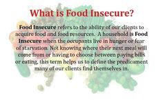 It's hard to describe sometimes, so here's a good script to help you define food insecurity for others.
