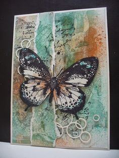 stampinback art stamps | TOP 3 in the Butterfly challenge