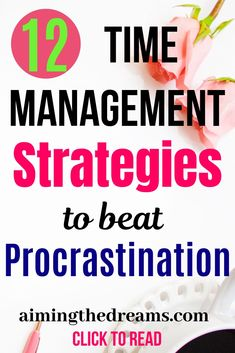 management strategies to beat procrastination management help to stop Set goals and be productive with time management strategies.management help to stop Set goals and be productive with time management strategies. Time Management Tools, Time Management Strategies, Project Management, Business Education, Business School, Business Management, Business Planning, How To Stop Procrastinating, Work From Home Tips