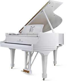 Yoko Ono's birthday steinway from John Lennon in 1971. I love white pianos! #piano