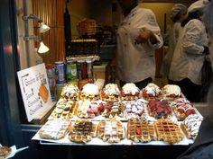 Belgian waffles in Belgium.
