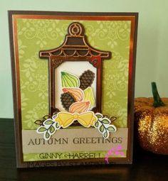 Seasonal Lantern by Stampin' Up. Thanksgiving card