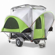 Oh the PLACES I'd go!  I love the adaptable SPACE of this darling GO camper -- from table top for board games to enough sleeping room for me and the boys to tell ghost stories until we fall asleep.  If only it weren't over $7000...