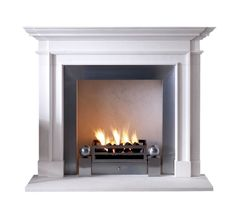 The Burlington Traditional, Transitional, Stone, Fireplace Element by Chesneys