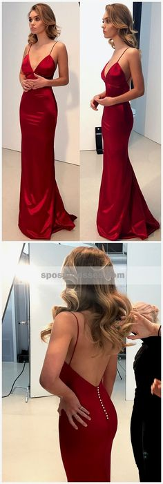 Cheap Simple Backless Prom Dresses, Dark Red Mermaid Prom Dresses, Long Evening Party Prom Dresses, · Oktypes · Online Store Powered by Storenvy Prom Dresses For Teens, Backless Prom Dresses, Prom Party Dresses, Trendy Dresses, Nice Dresses, Red Dress Prom, Red Mermaid Dress, Long Evening Dresses, Red Silk Dress