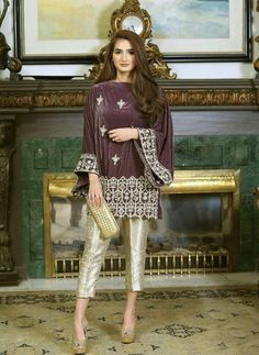 Pakistani Formal Dresses, Pakistani Party Wear, Pakistani Fashion Casual, Pakistani Couture, Pakistani Dress Design, Pakistani Outfits, Couture Dresses, Fashion Dresses, Velvet Dress Designs