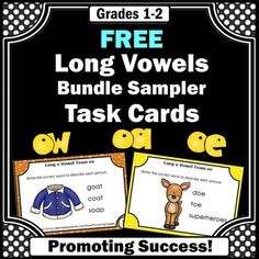 Phonics Free Long o Vowel Teams Task Cards Games Phonics Rules, Teaching Phonics, Teaching Reading, Guided Reading, Word Study, Word Work, Vowel Activities, Team Activities, Wilson Reading Program
