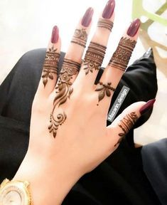 Modern Henna Designs, Henna Tattoo Designs Simple, Henna Designs Feet, Mehndi Designs For Girls, Mehndi Designs For Beginners, Mehndi Designs For Fingers, Latest Mehndi Designs, Beautiful Henna Designs, Arabic Henna Designs