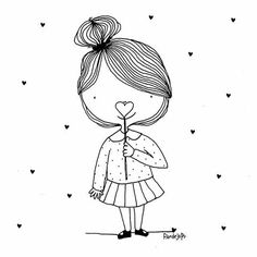 Doodle Drawings, Easy Drawings, Doodle Art, Drawing Sketches, Doodle People, Planner Doodles, Cute Doodles, Drawing Lessons, Digi Stamps