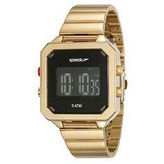24847LPEVDS1 Relógio Unissex Dourado Speedo   Guest Club Relogio Feminino  Digital, Relógios Femininos Dourado, c673c023f7