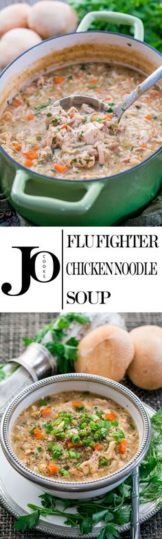 This Flu Fighter Chicken Noodle Soup is loaded with good for you ingredients, it's cozy and the epitome of comfort food. Perfect for when you're feeling congested or experiencing flu-like symptoms.